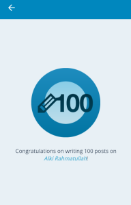 100 Posts,made by dedication..