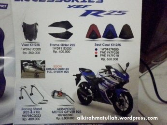 Aksesoris asli Yamaha R25.. lumayan