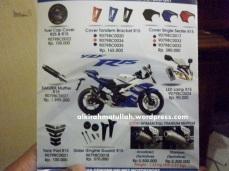 Aksesoris asli Yamaha R15,mantap