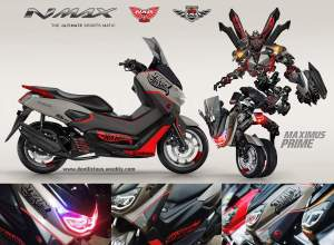 Bonusnya nih,konsep modifikasi realistis Yamaha NMax,sangaarrr