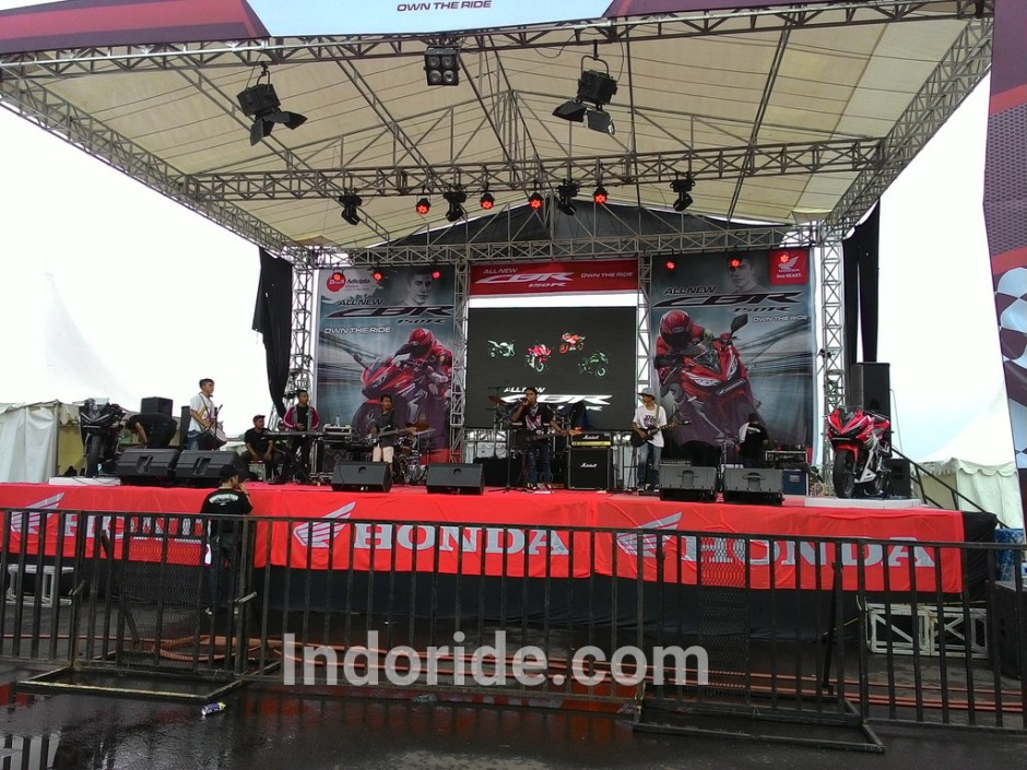 suasana Launching All New CBR150R facelift karawang...