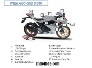 Aksesoris Resmi GSX R150