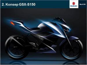 Konsep desain GSX-S150, tetap menganut kaidah aerodinamis!