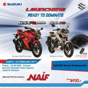 Asiik nih! Launching Suzuki GSX-R150 dan GSX-S150 di Citos!