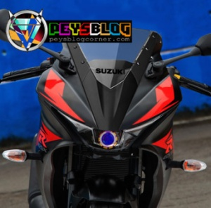 Konsep modifikasi GSX-R150 LED Projector headlamp