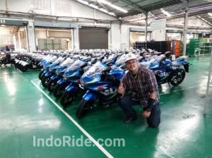 Ngeliat langsung proses perakitan dan pembuatan Suzuki GSX-R150 nih!