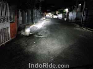 Sorot Lampu Honda CBR250RR Low Beam